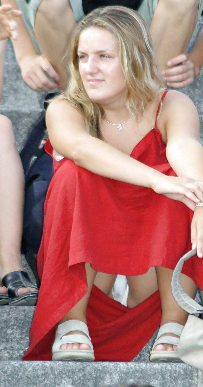 Dirty Panties Hot Women Wear Panty Upskirt Voyeur - 11 -3880