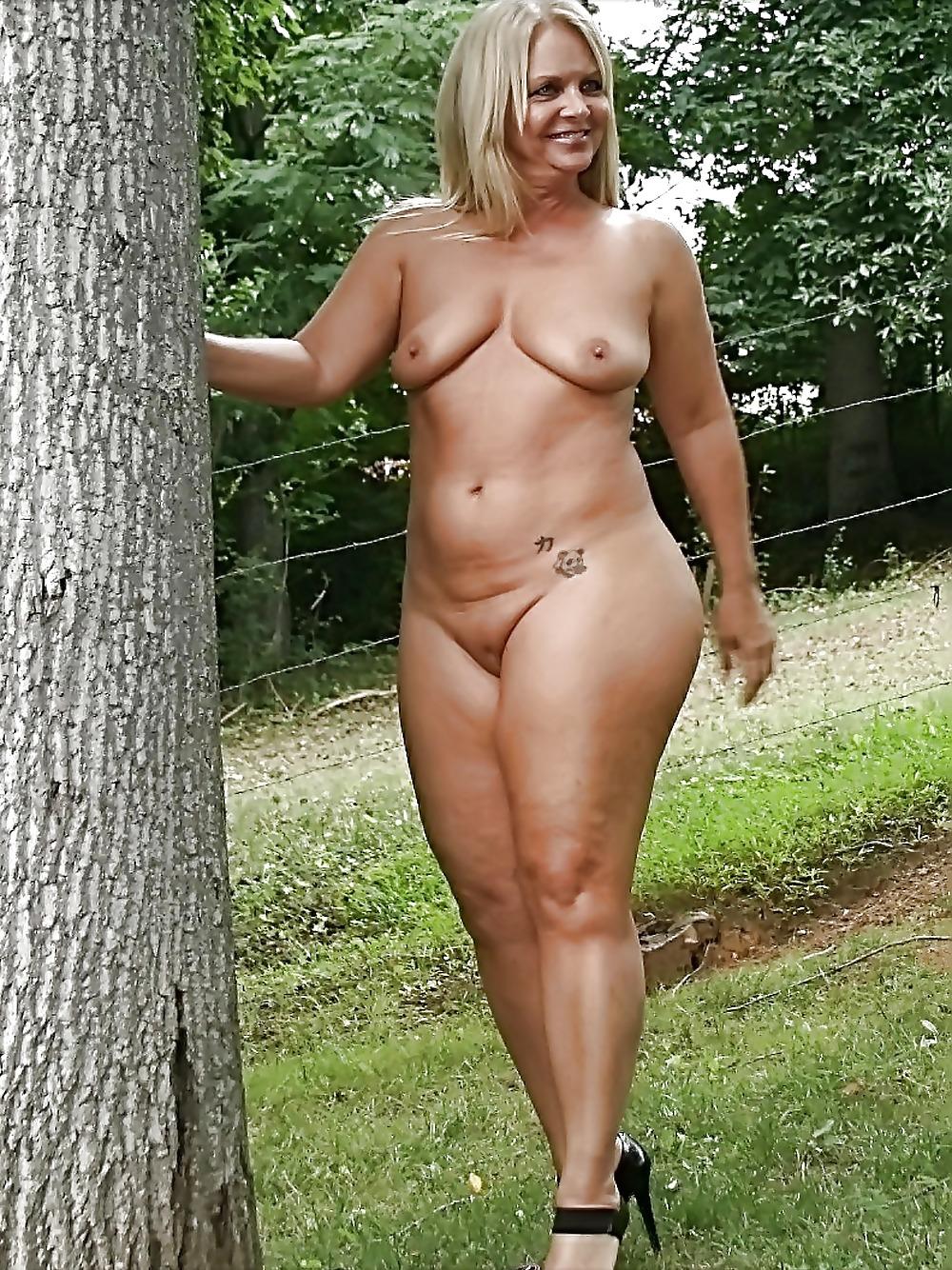 Naked mom in the garden — 9