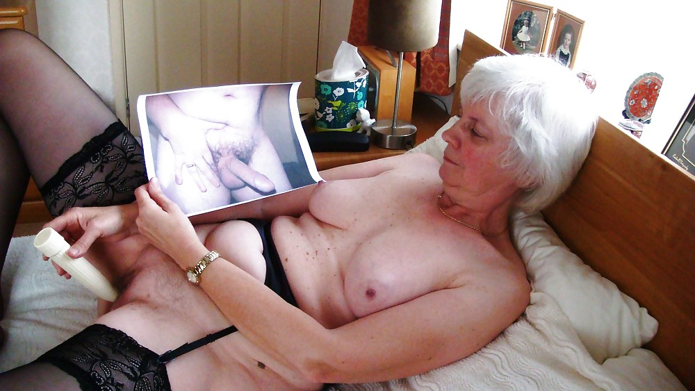 Old grandma masturbating