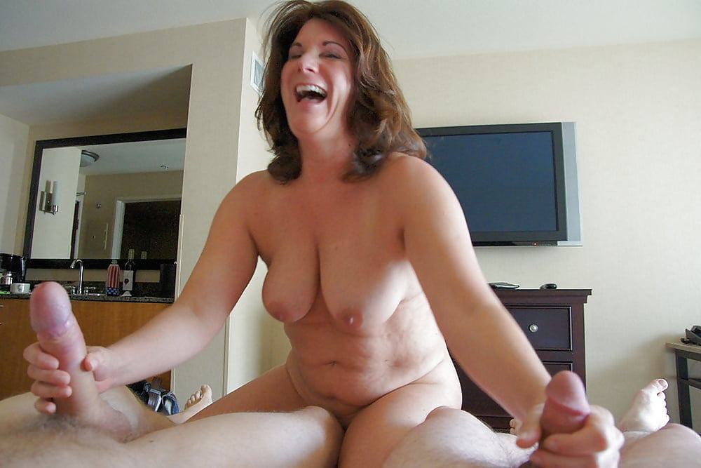 Mature Old Busty Wife Wearing Wedding Ring Giving Handjob