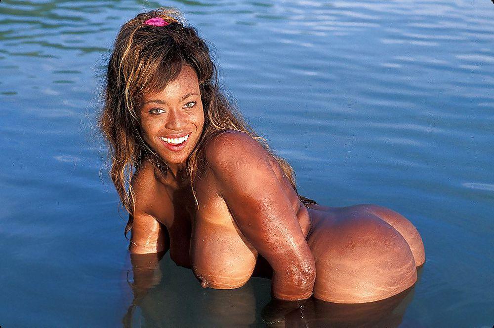 Beach ebony nude