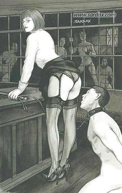 worship femdom drawing Foot