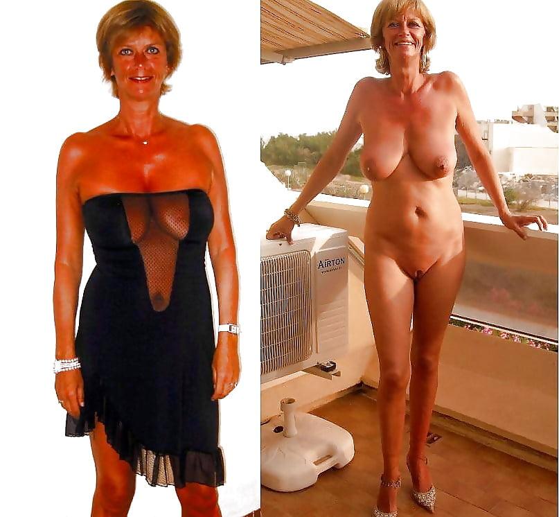 Mature ladies undressing Mature Women Dressed Undressed 3 52 Pics Xhamster