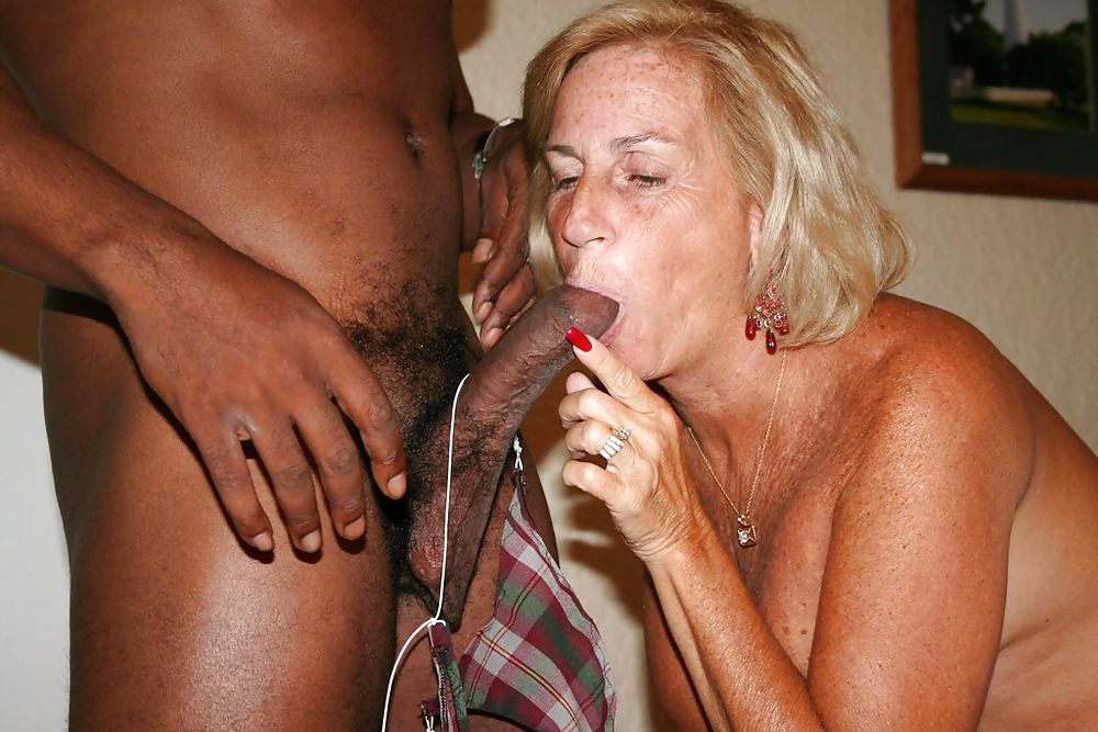 Blonde grannies love interracial anal