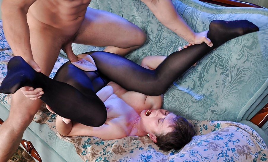 My friends mom in pantyhose #2