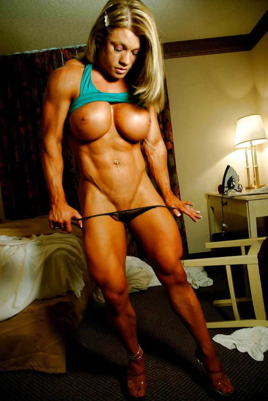 Nude muscle women tease — 7