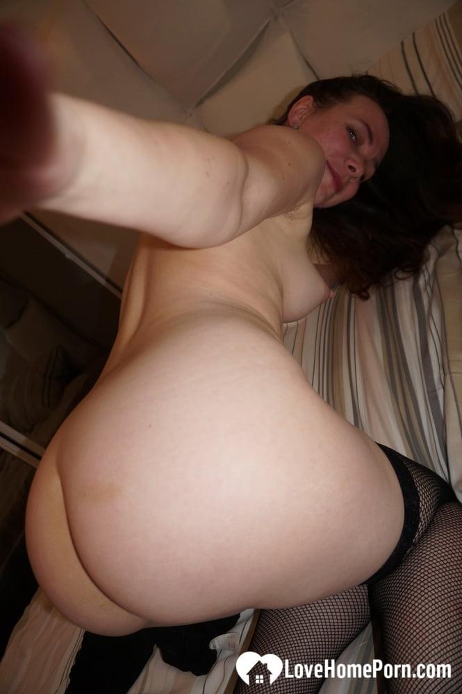 Hot mom teasing in her black stockings - 21 Pics