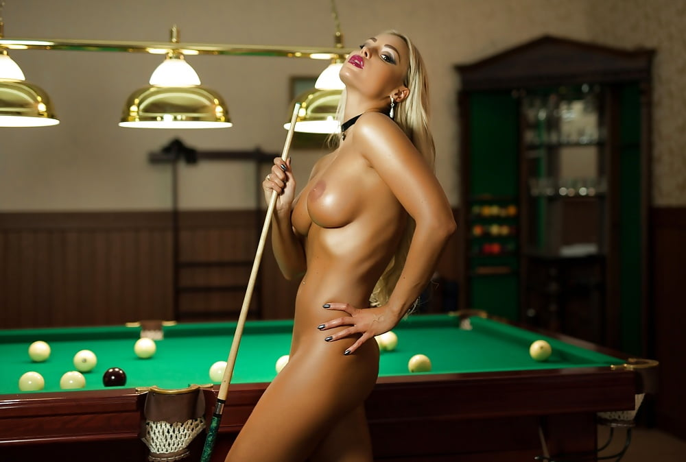 Hot Solo Girl Briana Lee Takes Off Her Short Dress To Pose Nude On Pool Table