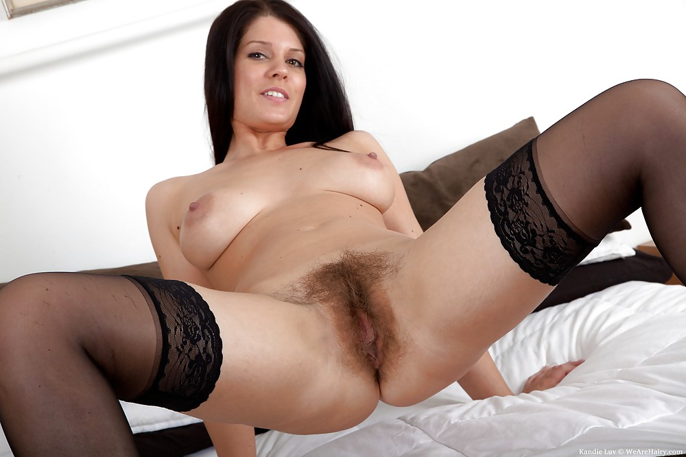 stockings-heels-perfect-tits-hairy-pussy