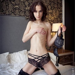 Poppy Petite Teen In Black Stockings And Lingerie