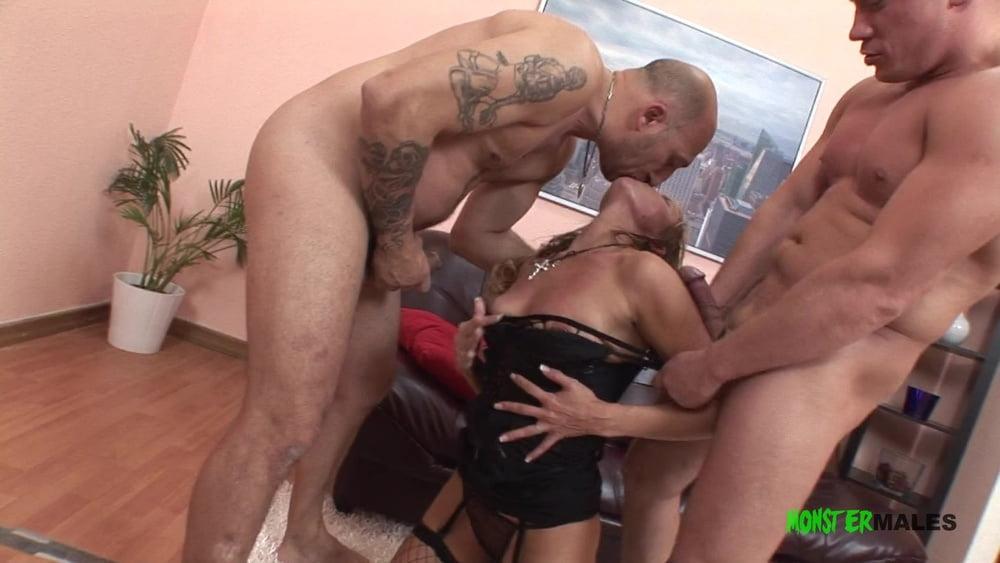 Milf Zlata gets rough anal DPfrom big dick Omar & Serge - 9 Pics