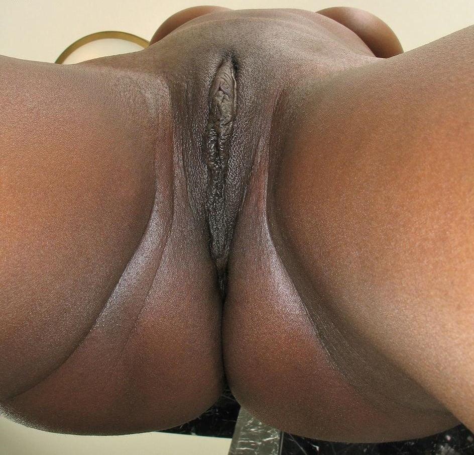 Fat black pussy close up