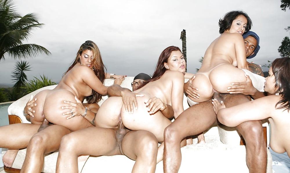Brazilian orgy threesome