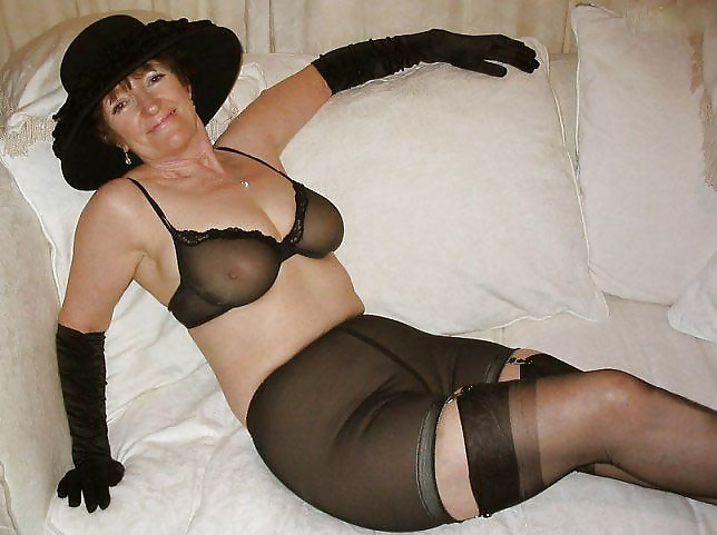 Uk milfs sexy scorpio and vintage fox wear nylon no knickers - 1 part 1