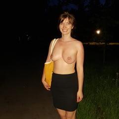 Night Time Outside In Public