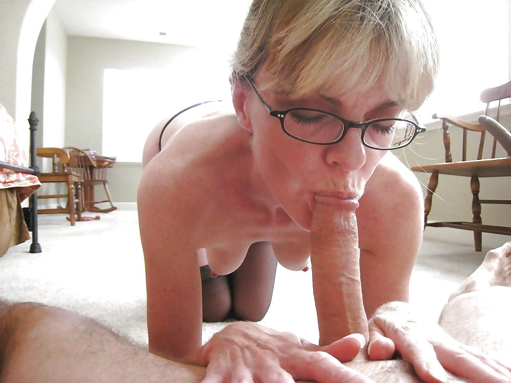 Old mom son blowjob