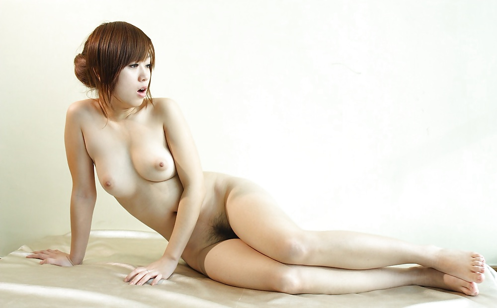 Nude Chinese Girl With Hairy Pussy Between Her Long Legs