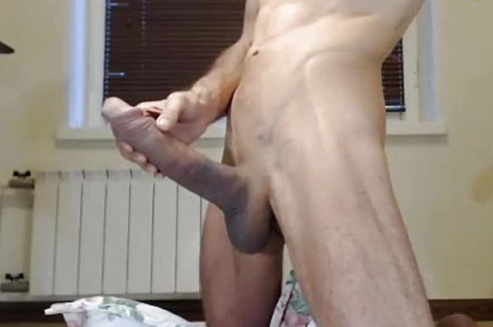 Jerking off my big cock with a great cumshot