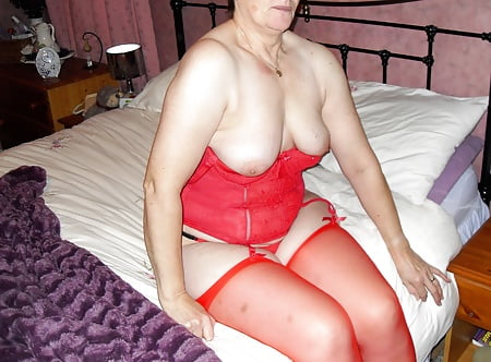 granny sally    in and out of red basque