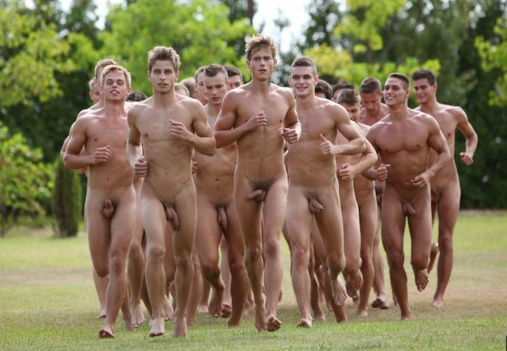 Three nude men get together #3