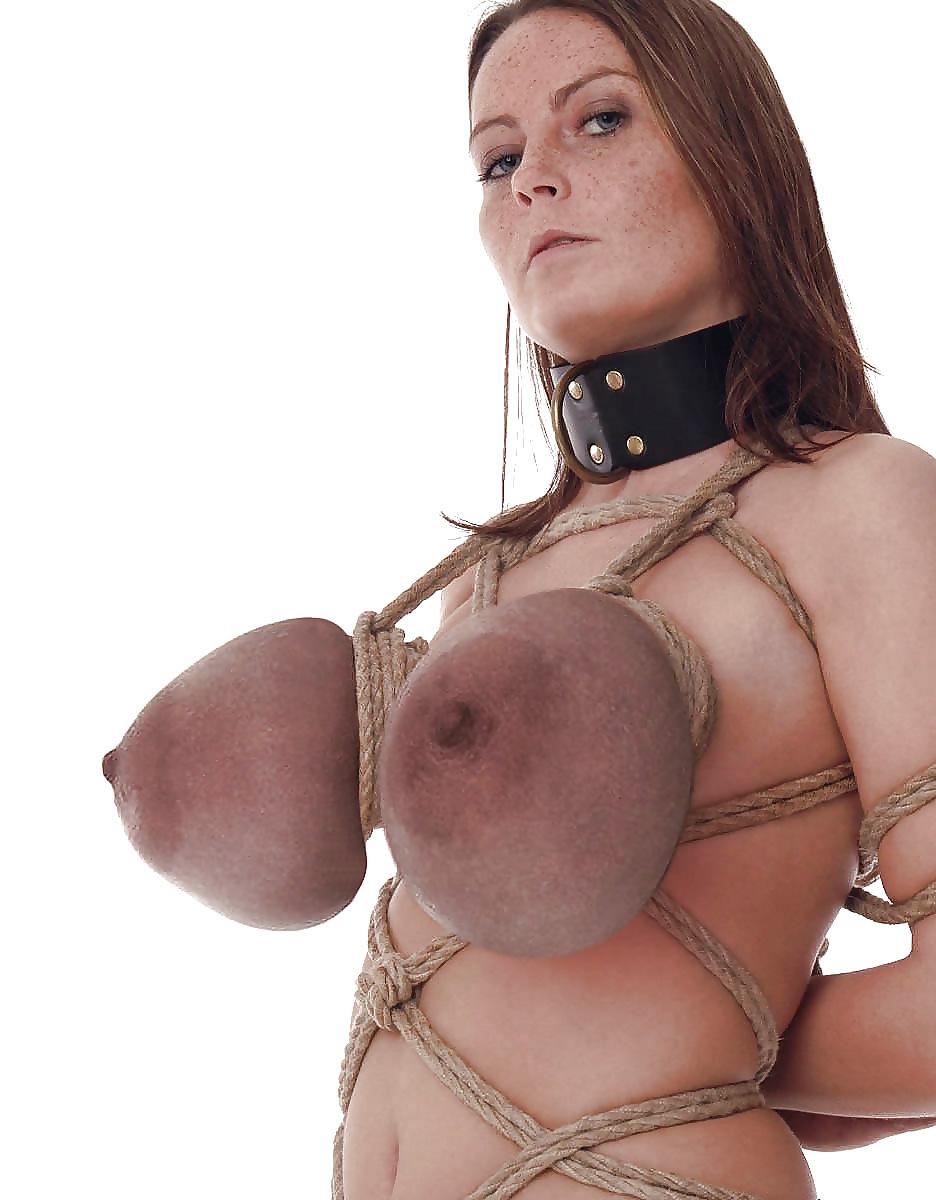 Women tits nailed