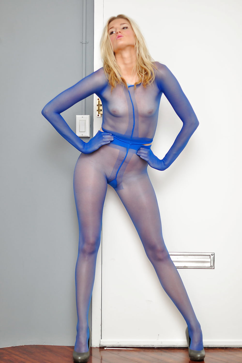 Sexy Sheer Suspender Tights Stockings Glossy Sex Pantyhose Open Crotch Hosiery