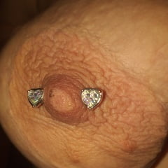 My Tits, Hard Nipples, Big Areolas And Piercings