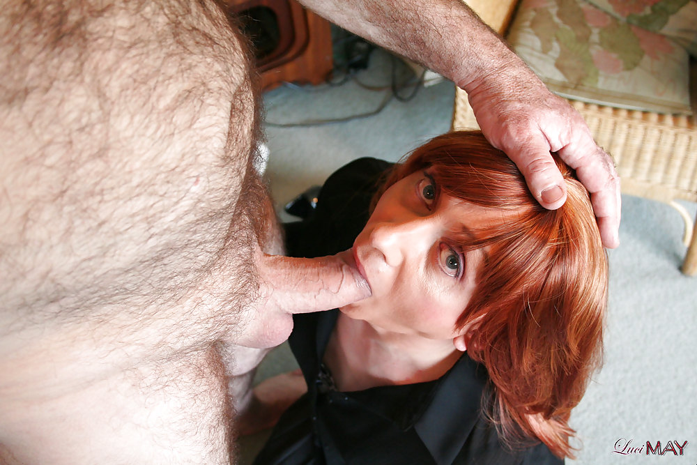 Mature crossdresser blow job #9