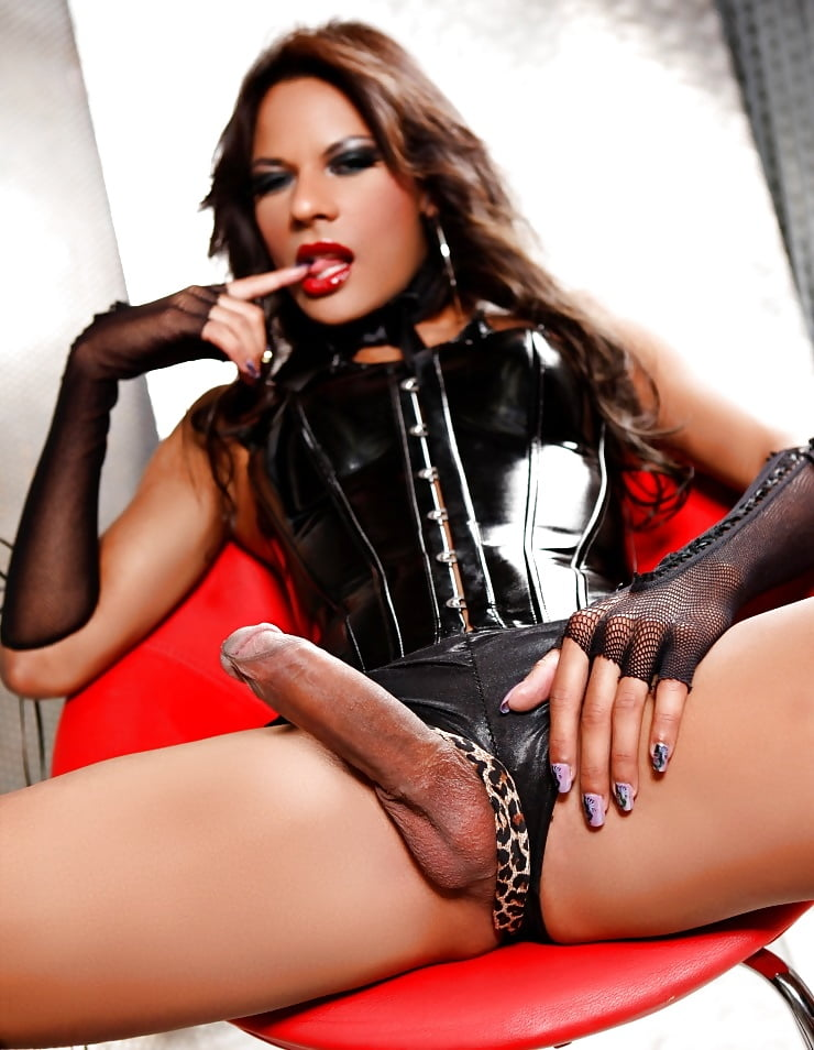 Tranny in leather