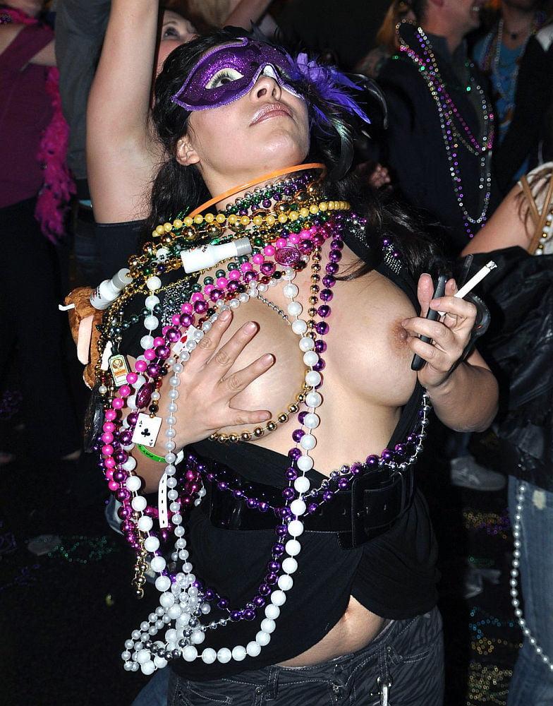 Public Flashing Mardi Gras