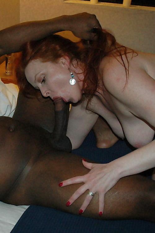 Sexy redhead wife black cock