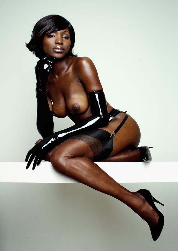 girl latex Black