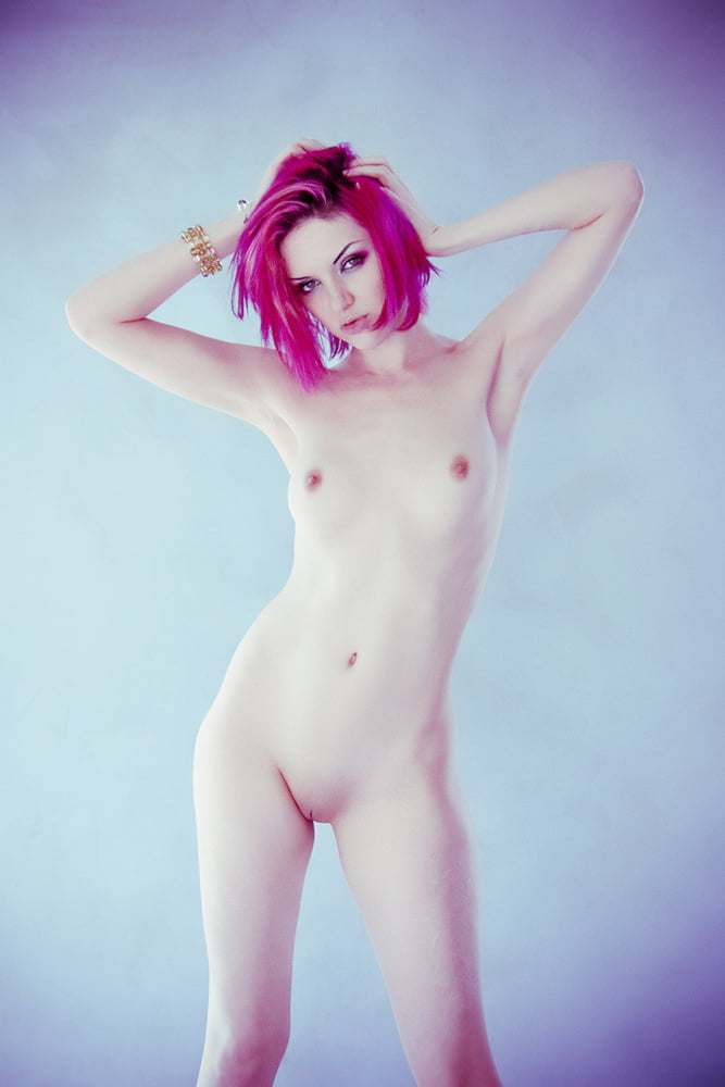 Pink Haired Hottie Massaging Her Pussy