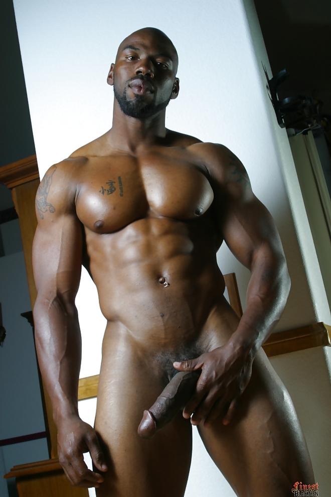 Naked black man and his naked dick facial cleansers
