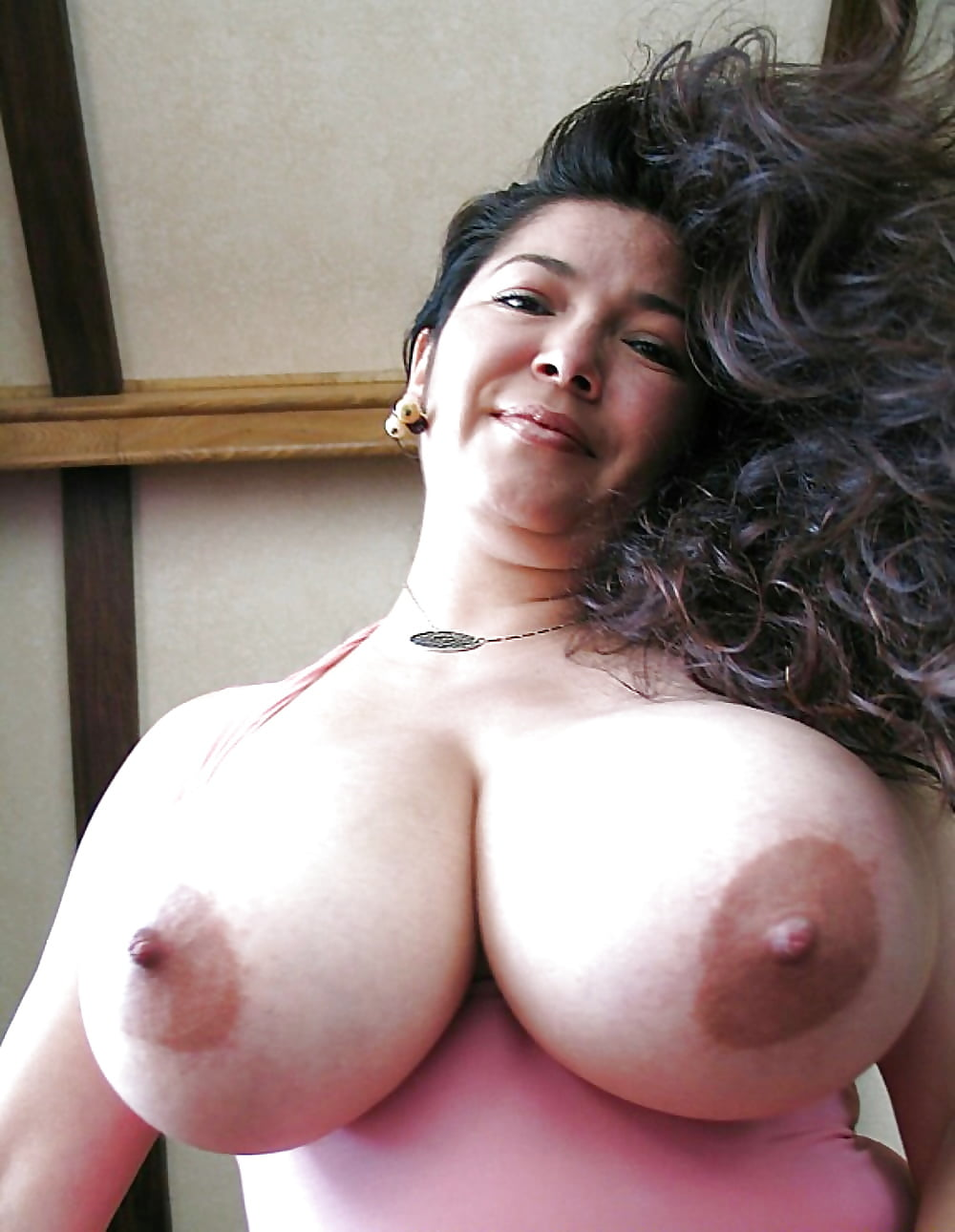 Chubby latina huge tits