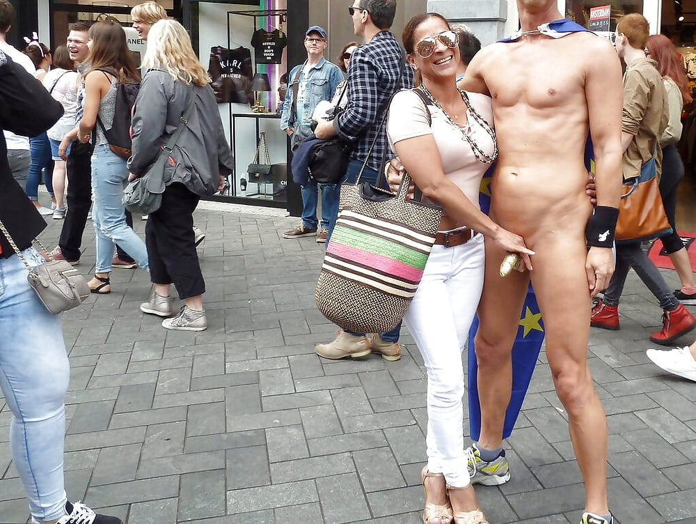 Exhibitionist straight men show hard cock in public wank and cum