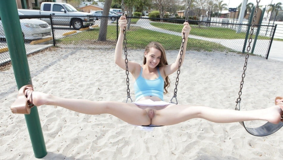 Sexy isabella naked on a swing