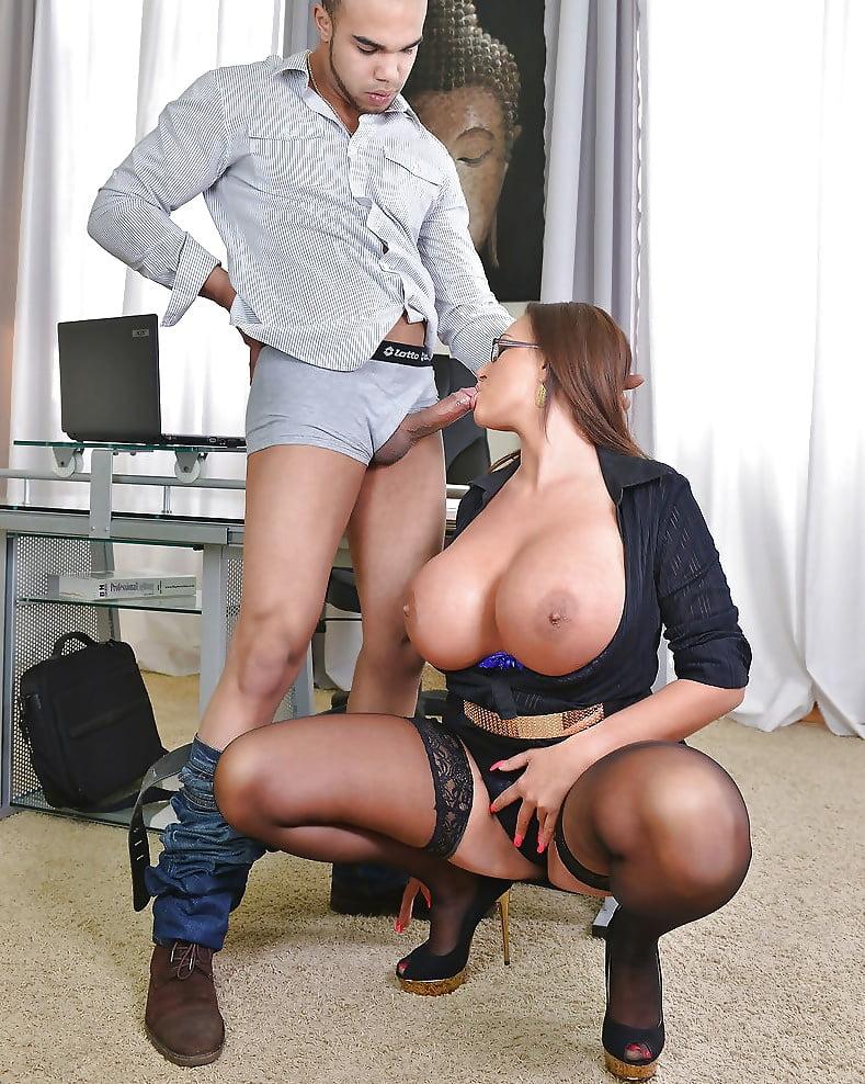 Sucked By Slutty Big Tit Boss