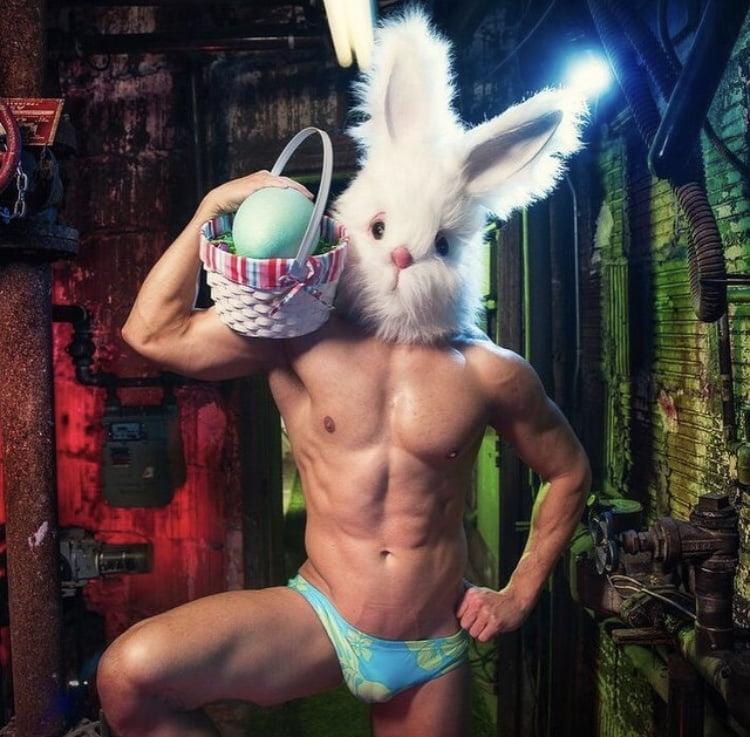 Sexy easter bunny girl image photo