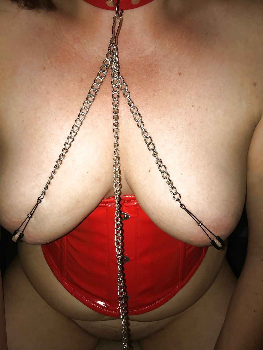 Bald pussy nipple clamps — photo 4