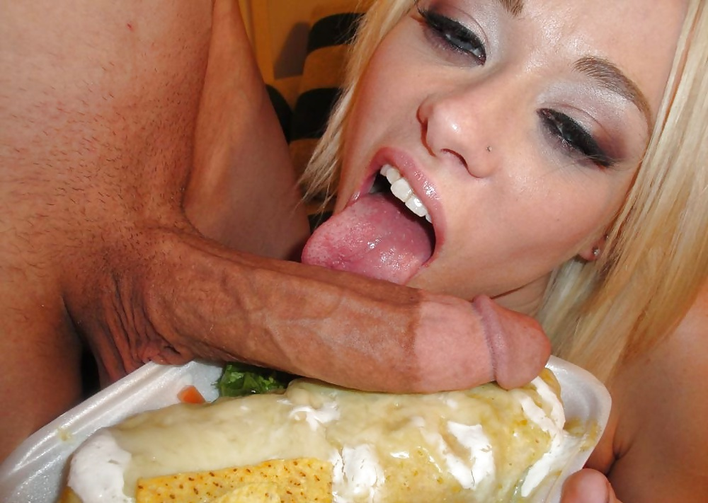Girls having sex with food porn — photo 14
