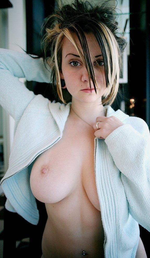 Busty Slut with Tats - 53 Pics