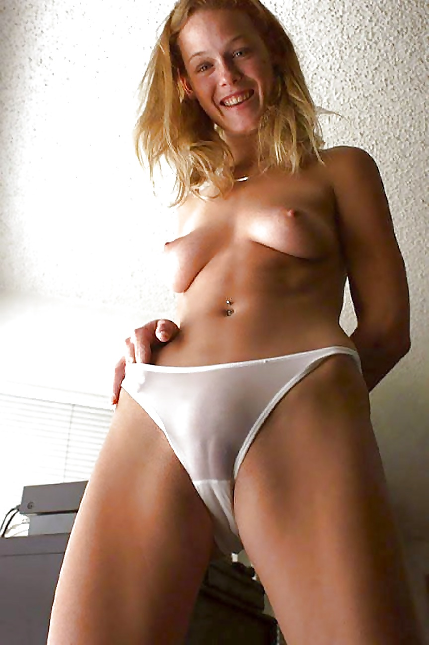 Camel pantie slut toe white and