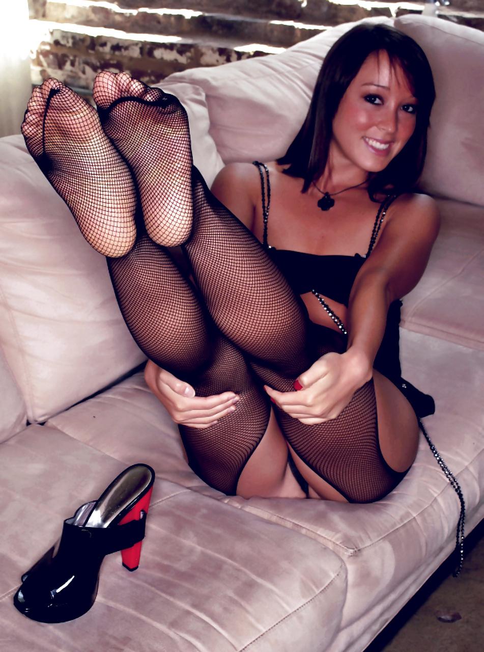 Black fetish foot girl stocking, pussy wet tight xxx