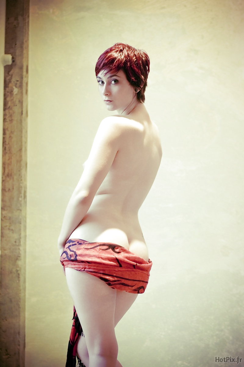 Nude short red hair woman #12