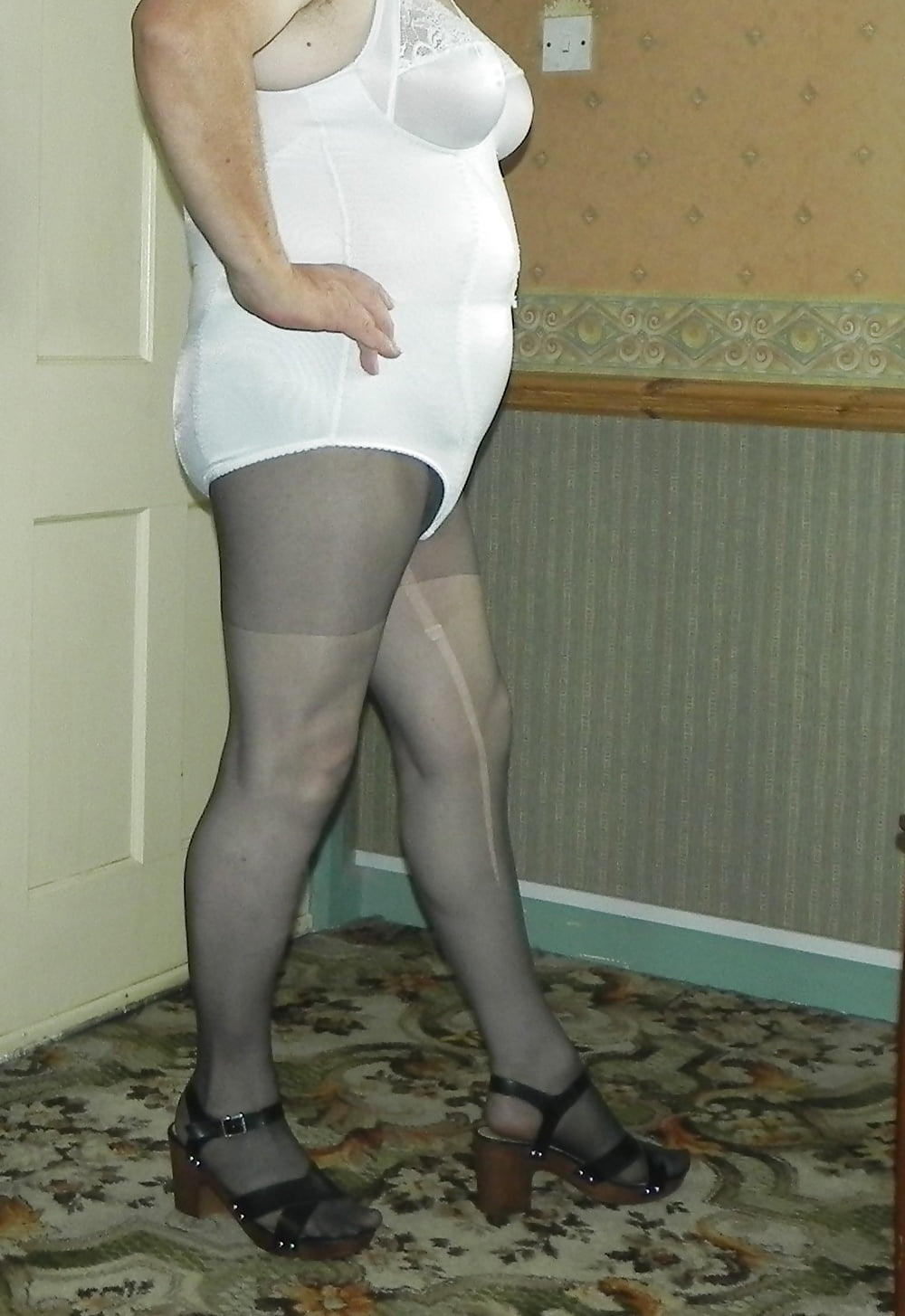 Milf with white panty
