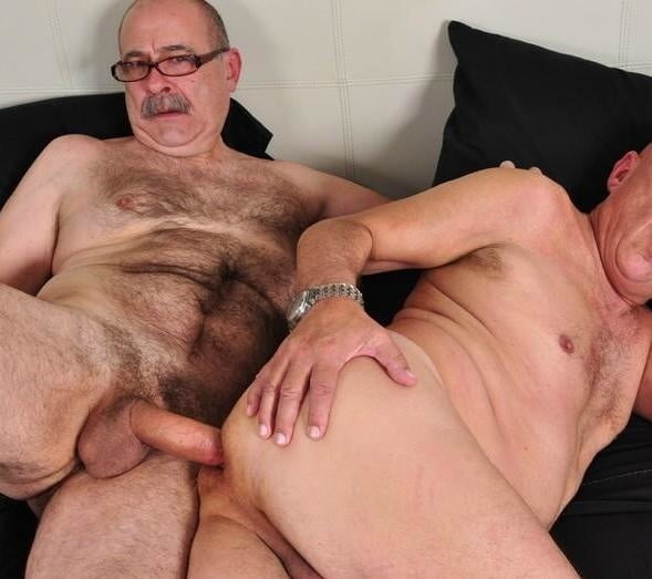 Hairy bi-curious older men