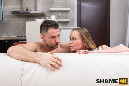 busted my stepmom with her lover and made her suck my dick