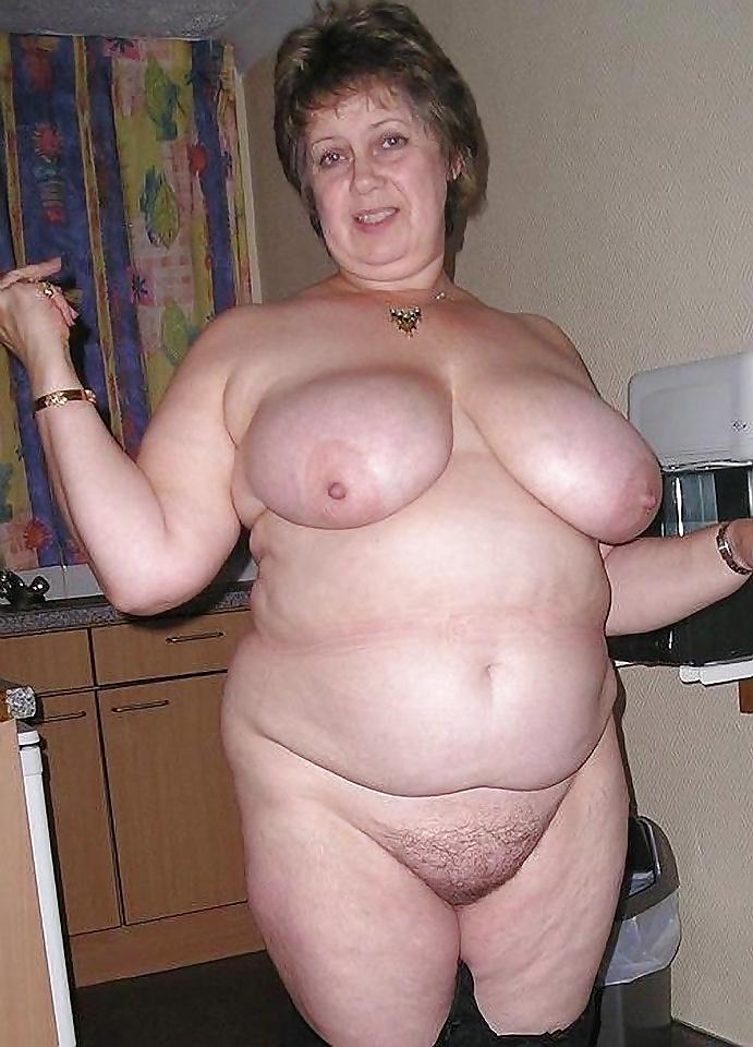 Mature granny big tits lingerie