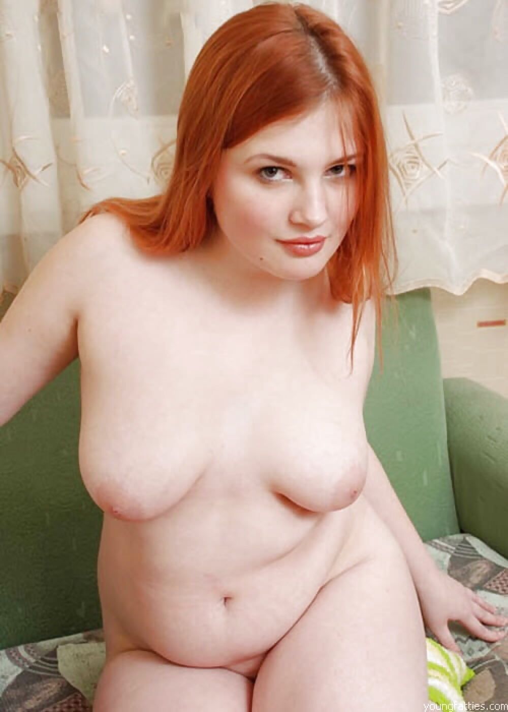 Young fat redhead girl nude — pic 14